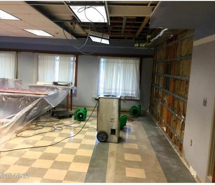 Water Damage at Holy Cross, Notre Dame After
