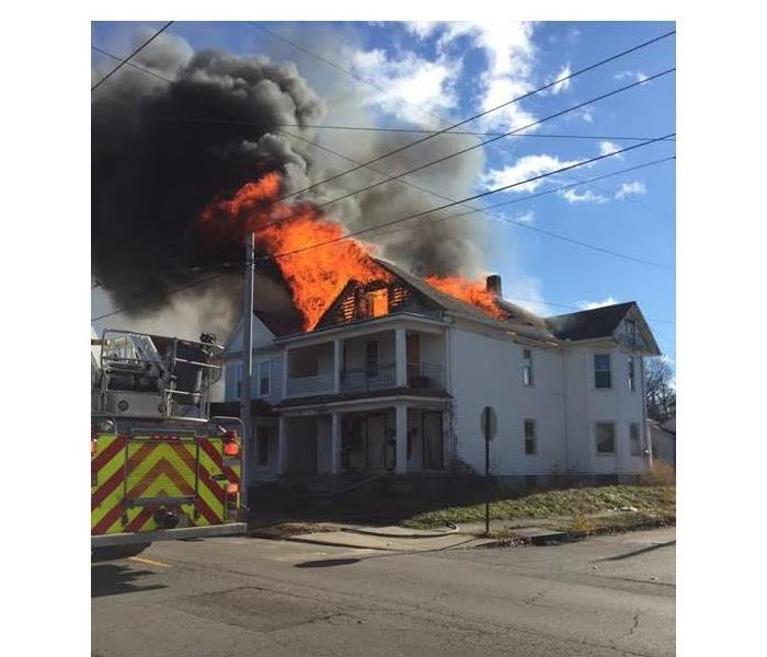Apartment fire in South Bend